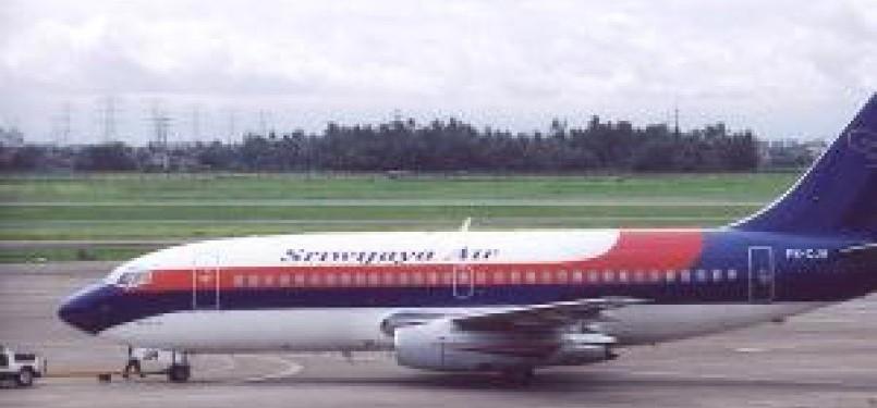 Pesawat Sriwijaya Air.