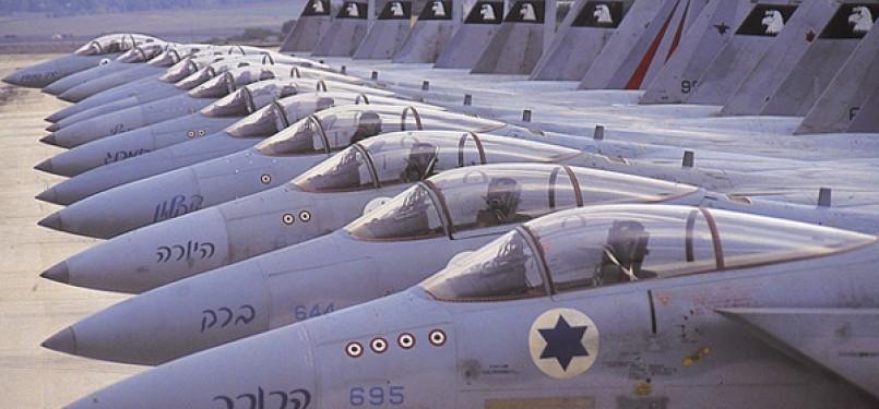Pesawat tempur militer Israel.