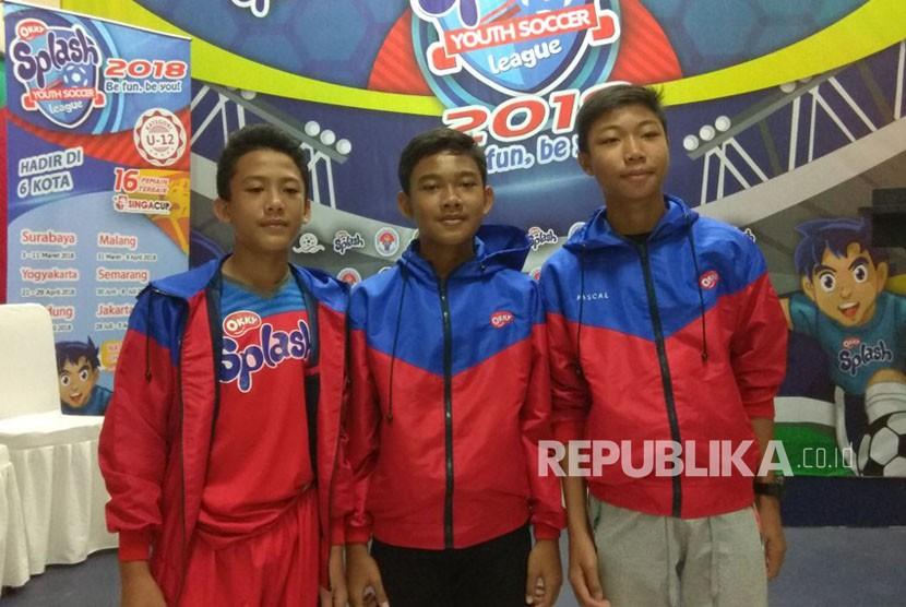Pesepakbola belia yang tahun lalu mengikuti ajang Okky Splash Youth Soccer.  Mereka juga berkesempatan ikut di ajang Singa Cup 2017 DI Singapura.