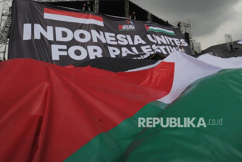 Aksi solidaritas Palestina. (Ilustrasi)