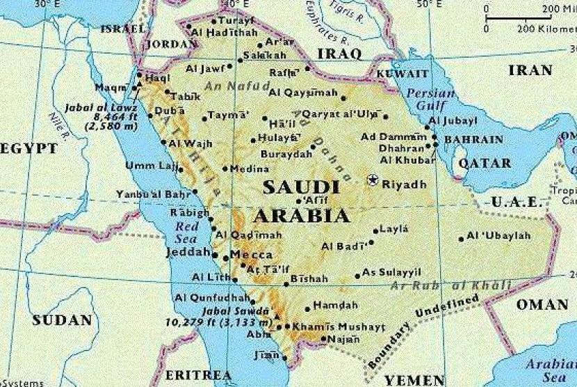 Peta Jazirah Arab.