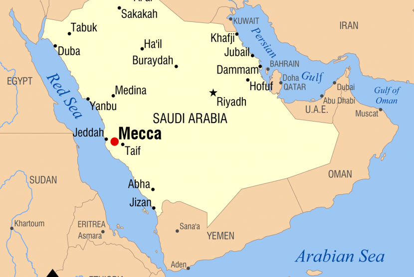 Peta Jazirah Arabia.
