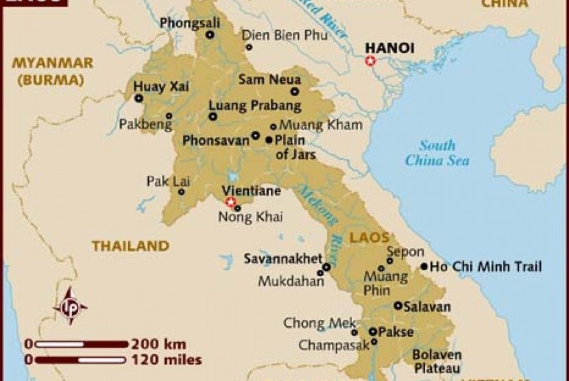 Peta Laos.