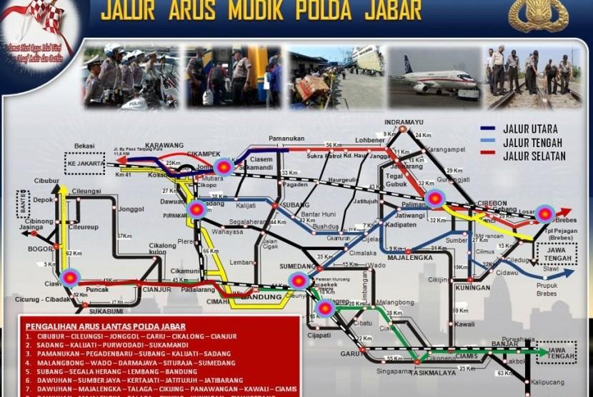Peta Mudik Lebaran 2012 Jabar