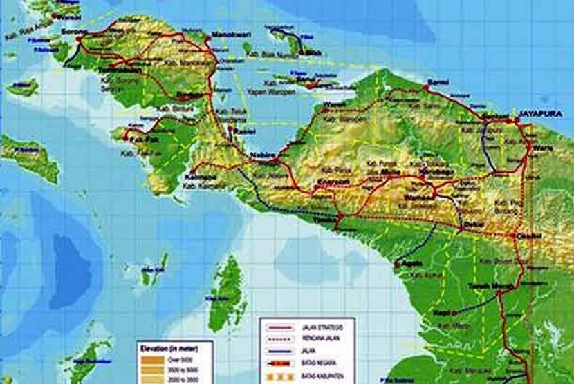 Government claims that they has pocketed identities of foreign intelligence agents who carry out their mission in Papua. (Map of Papua)