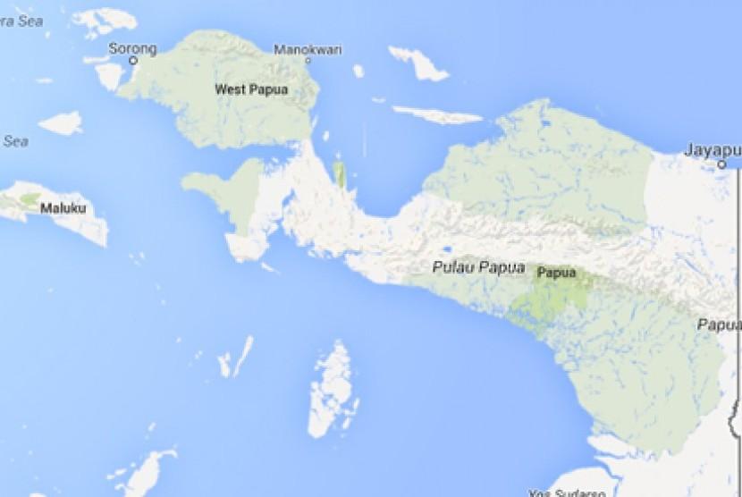 Peta Papua. Ilustrasi.