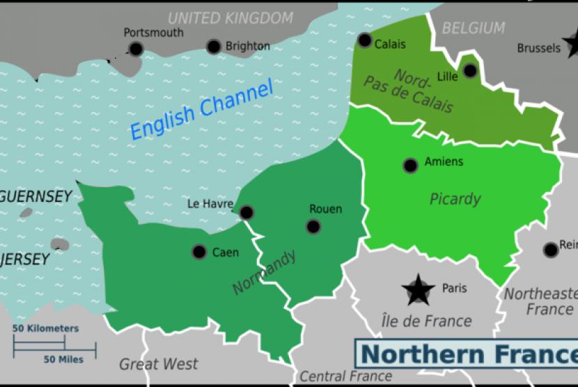Peta Pulau Guernsey
