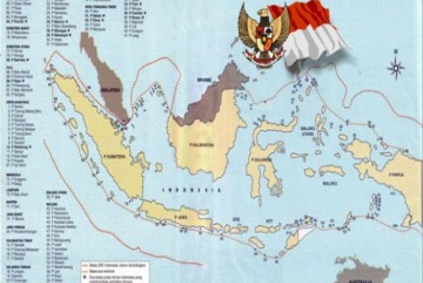 Peta pulau terdepan Indonesia