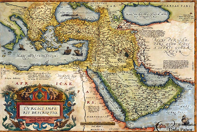 Peta wilayah Utsmaniyah.