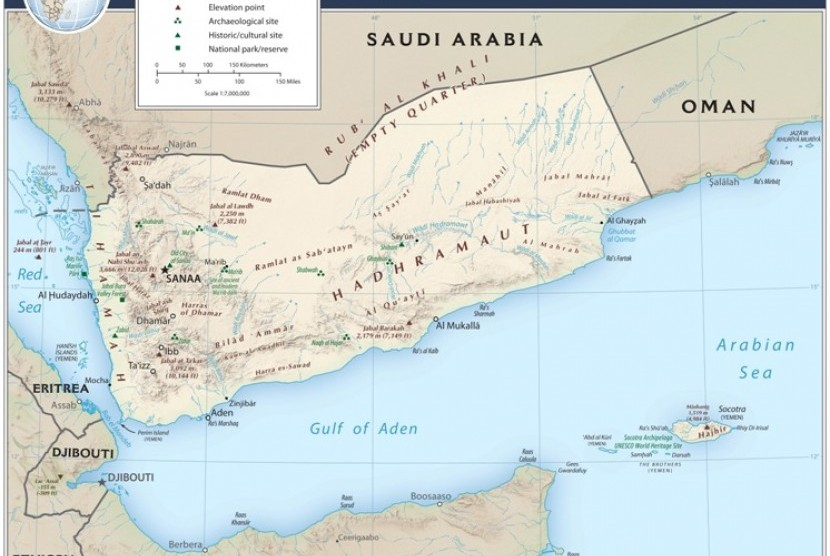 Peta Yaman.