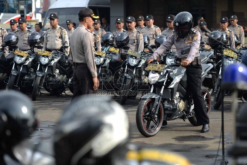 Polresta Depok Gelar Simulasi Pengamanan Pilgub Jabar 2018