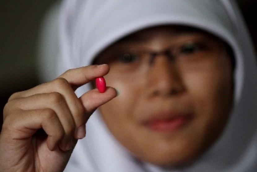 Pil penambah darah untuk penderita anemia.