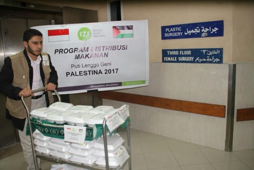 PKPU Human Initiative bersama Inisiatif Zakat Indonesia  (IZI) dan mitra lokal di Gaza mendistribusikan makanan untuk lebih dari 2000 pasien yang dirawat di rumah sakit di Gaza.