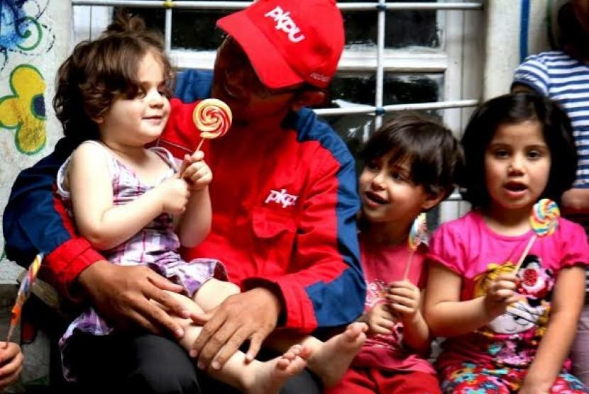 Pengungsi Suriah Dapatkan Bantuan dari PKPU