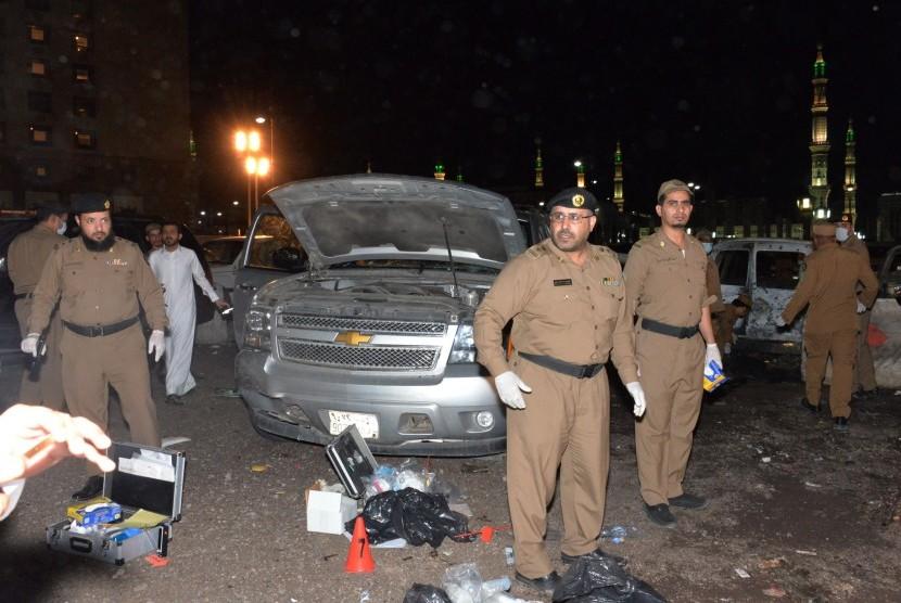 Polisi Arab Saudi.