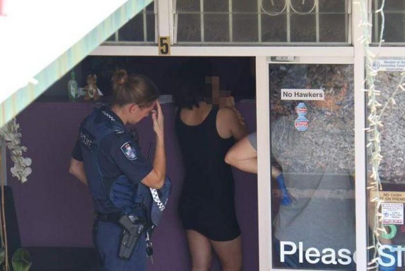 Polisi geledah panti pijat di Gold Coast.