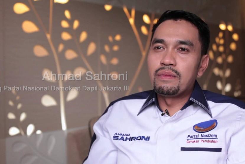 Politikus Partai Nasdem, Ahmad Sahroni.