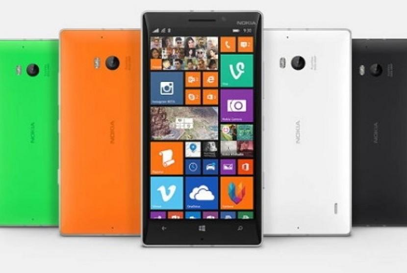 Ponsel Nokia. Ilustrasi