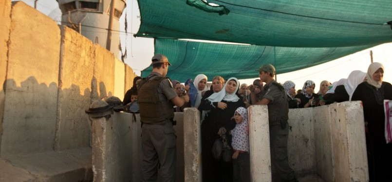 Pos Penjagaan Israel menuju Masjid Al Aqsha