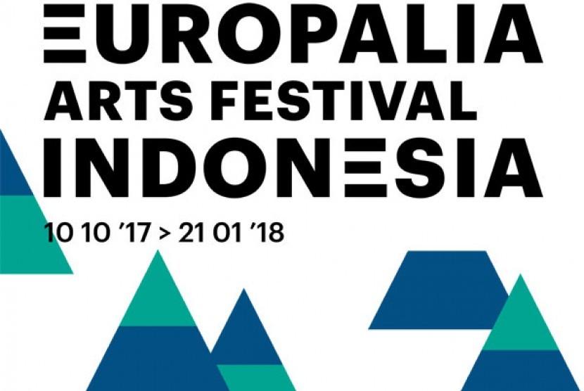 Poster Festival Europalia yang digelar di Brussels, Belgia.