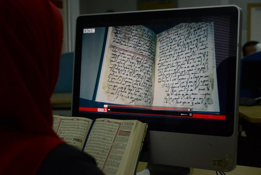 Potongan naskah Alquran kuno di Birmingham
