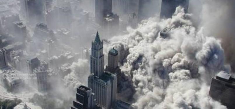 Potret Kota Manhattan saat WTC runtuh 11 September 2011