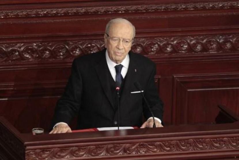 Presiden baru Tunisia, Beji Caid Essebsi.