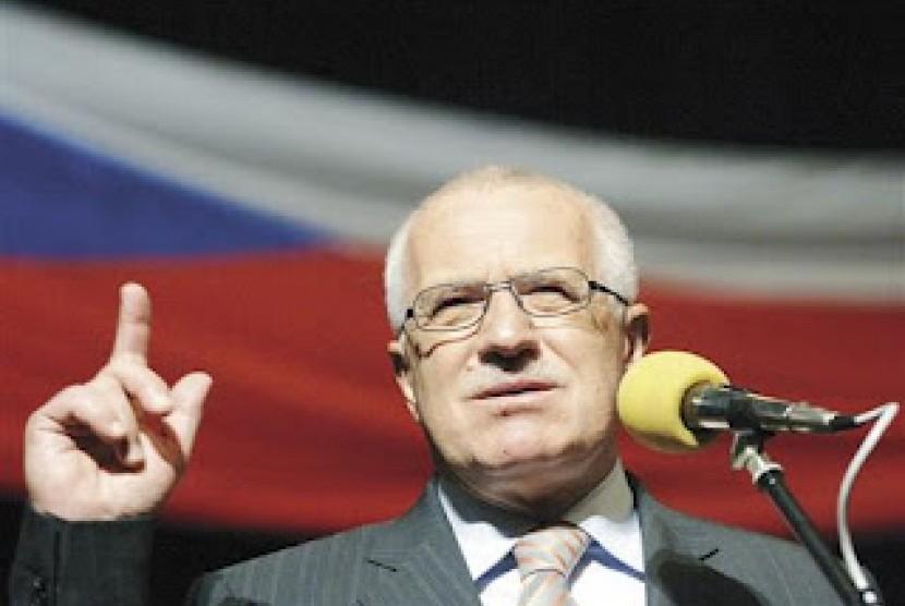 Presiden Ceko Y.M. Vaclav Klaus