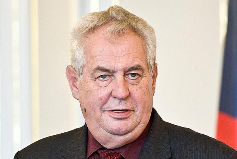 Presiden Ceska Milos Zeman