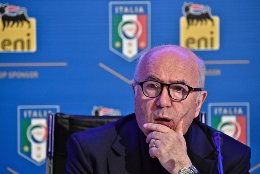 Presiden FIGC Carlo Tavecchio.
