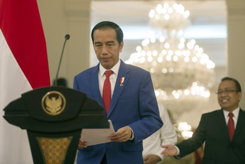 President Joko Widodo (left).
