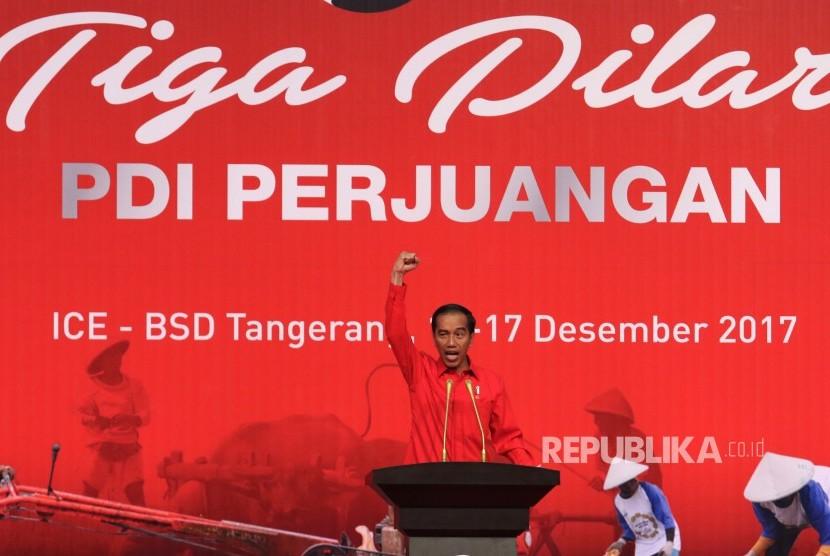 Jokowi Ajak Seluruh Kader PDIP untuk Terus Bergotong-royong