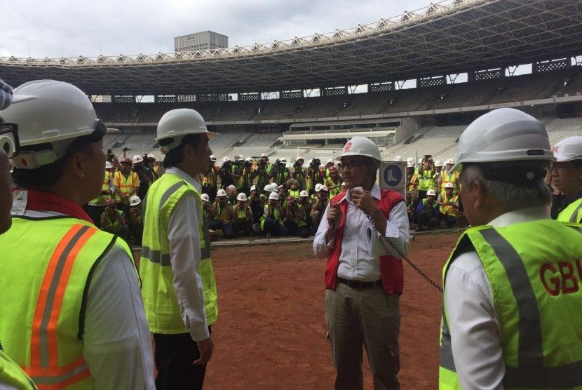 Saat Jutaan Rakyat Berkumpul di Monas, Presiden Jokowi Tinjau Lokasi Asian Games