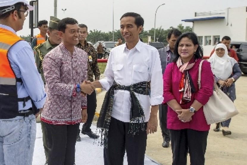 Presiden Jokowi dan Ibu Negara Iriana Widodo.