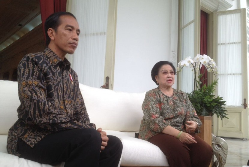 Presiden Jokowi dan Ketua Umum DPP PDIP Megawati Soekarnoputri