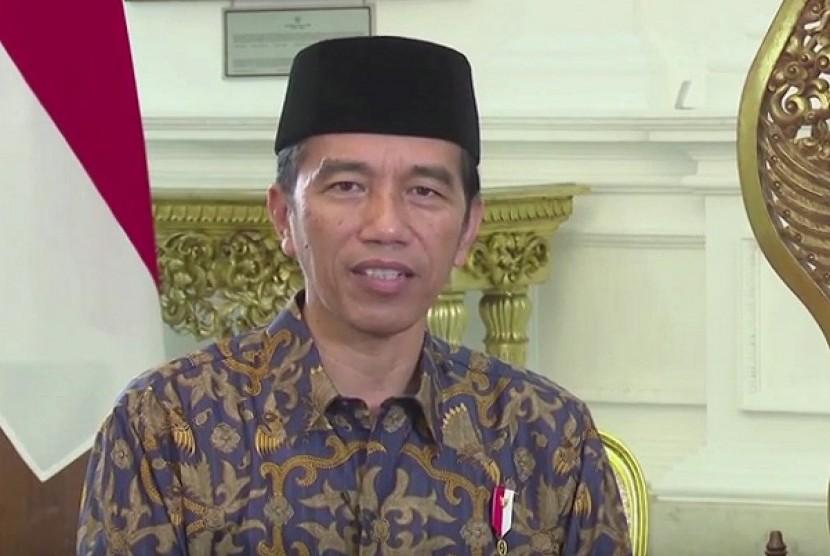 Presiden Jokowi menyampaikan ucapan selamat Hari Raya Idul Fitri