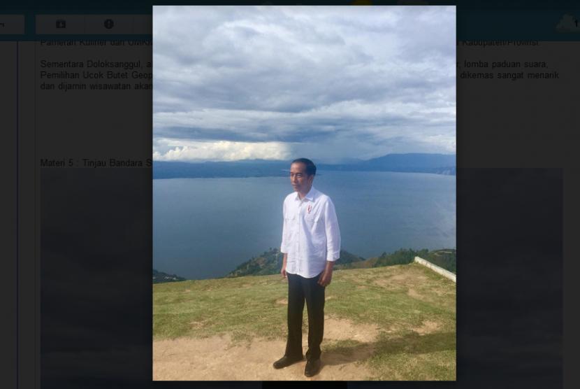 Permalink to Tinjau Bandara Silangit, Jokowi Peduli Akses ke Danau Toba