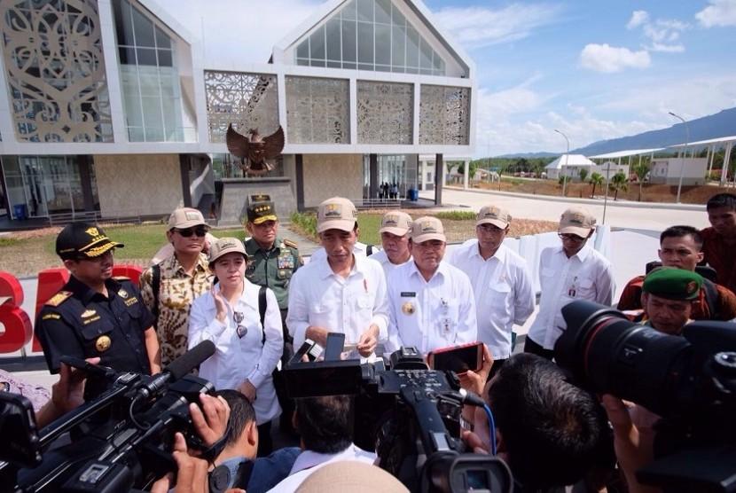 Presiden Jokowi saat peresmian PLBN Nanga Badau