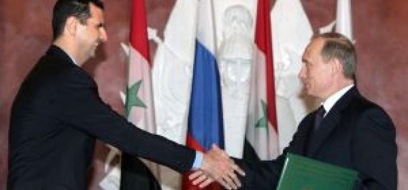Presiden Suriah Bashar Al Assad dan Presiden Rusia Vladimir Putin