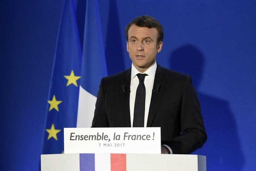 Presiden terpilih Prancis Emmanuel Macron.