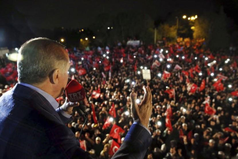 Erdogan Terima Kasih Atas Dukungan Warga pada Isu Yerusalem