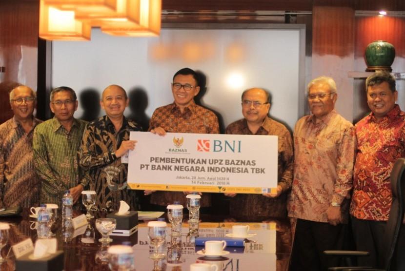 PT. Bank Negara Indonesia Tbk (BNI), secara resmi menjadi Unit Pengumpul Zakat (UPZ) Badan Amil Zakat Nasional (Baznas).