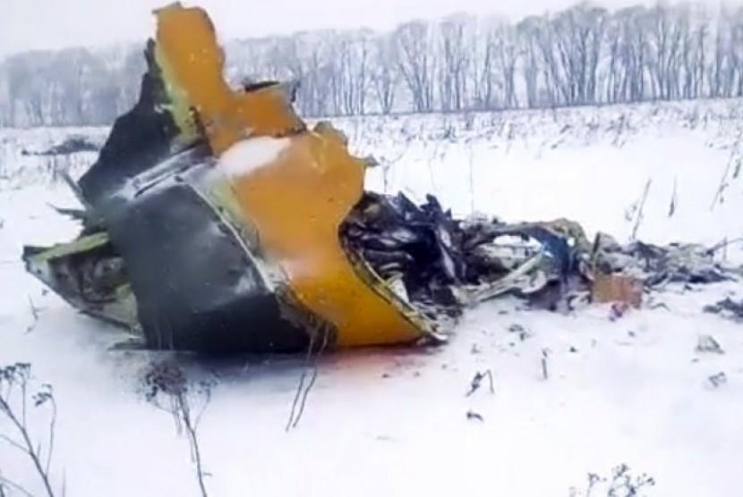 Puing pesawat Rusia, Saratov Airlines  yang jatuh.
