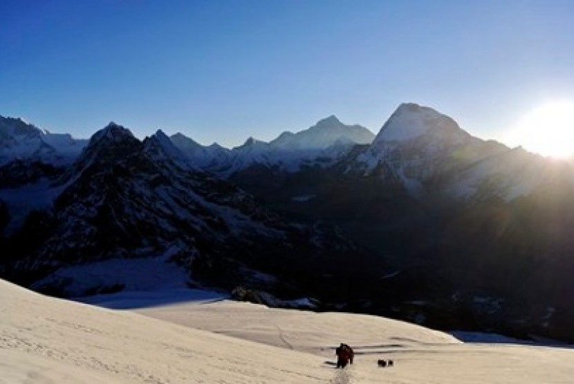 Puncak Pegunungan Himalaya