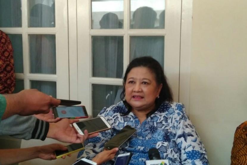 Putri Jenderal AH Nasution, Hendrianti Saharah Nasution, saat bertemu media di Menteng, Jakarta Pusat, Sabtu (30/9).
