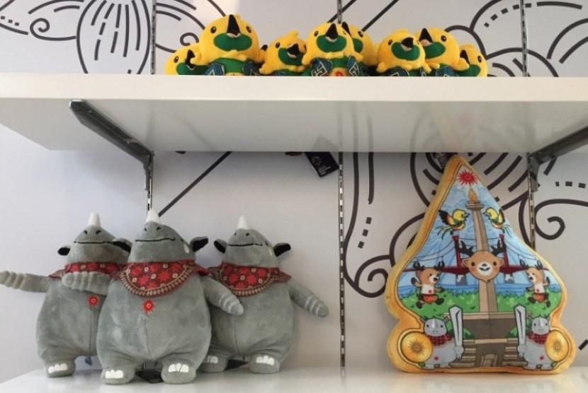 Ragam boneka maskot Asian Games 2018.