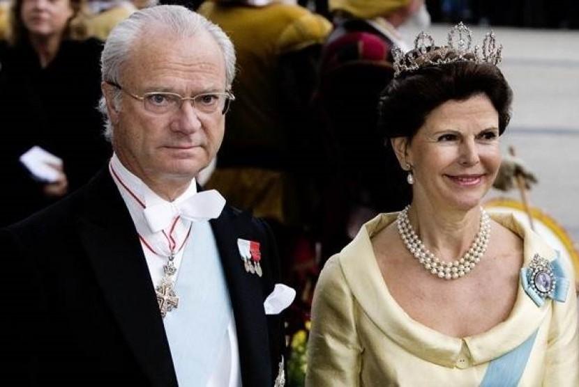Raja Carl XVI Gustaf dan Ratu Silvia dari Swedia.