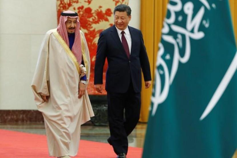 Raja Salman dan Presiden Cina Xi Jinping