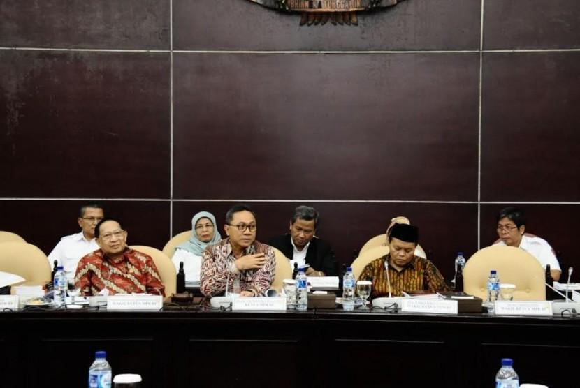 Ketua Mpr Sebut Seluruh Fraksi Setuju Pembentukan Haluan Negara Republika Online