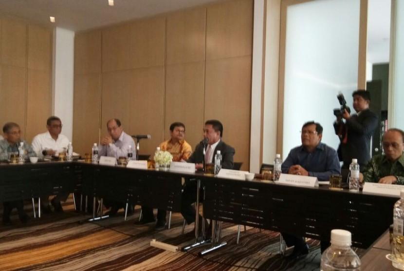 Rapat Koordinasi Sinkronisasi dan Harmonisasi Tugas Teknis KEK Arun Lhokseumawe, di Jakarta, Kamis (9/11).